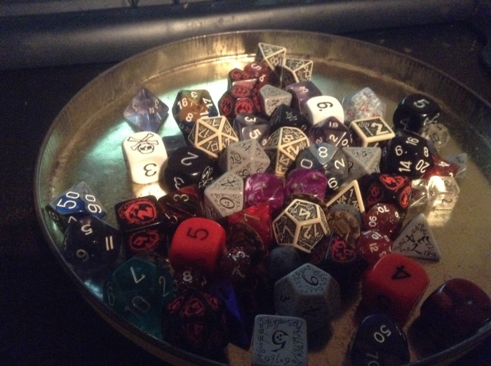 These are my personal dice that I use when I play D&D.