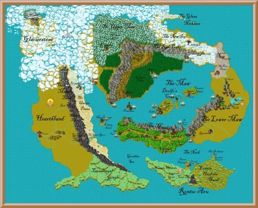 The map I made of Gurutama using Campaign Cartographer.