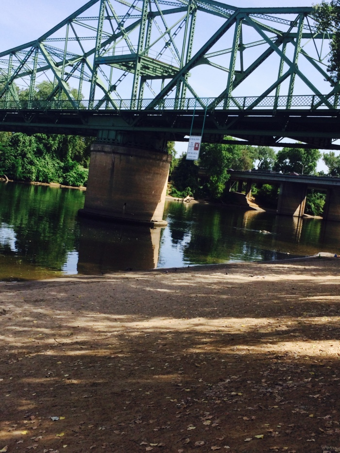 Here's a bridge in Sacramento by our hotel.