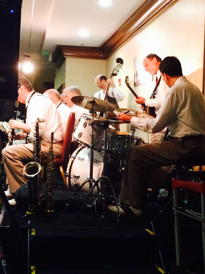 My father-in-law's band playing some 20's jazz.