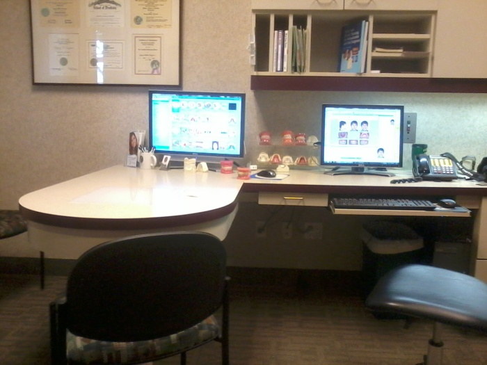 The office of the third orthodontist I've visited.