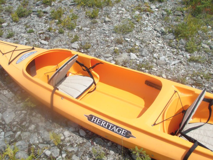 This kayak is FILLED with invisible spiders.
