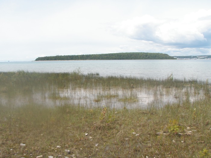 Round Island as seen from the West End beach on Bois Blanc.