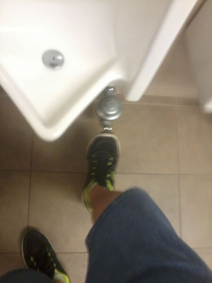 Behold! Flush by foot!