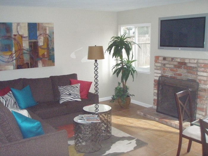 One of the TWO living rooms.